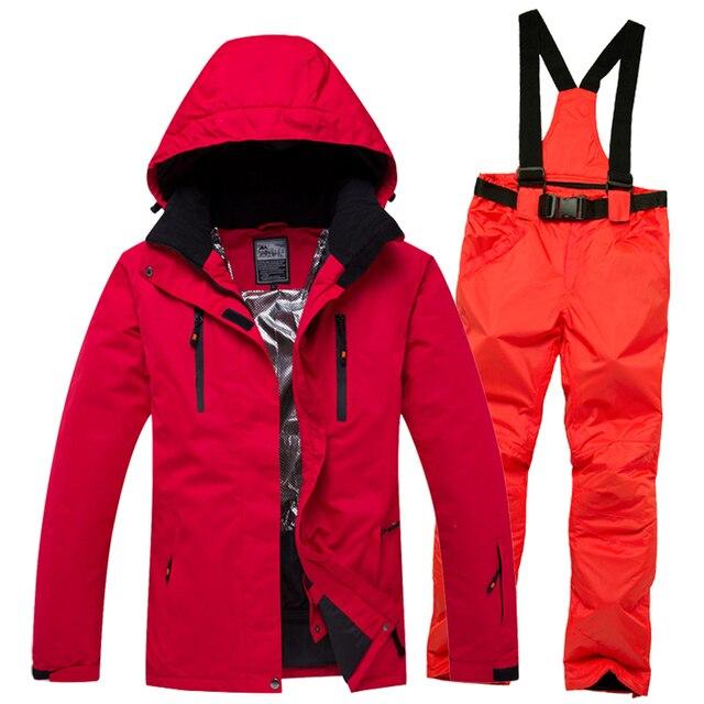 Комплект мужской + wo мужские куртки для спорта на открытом воздухе, костюм для сноубординга, одежда, водонепроницаемый ветрозащитный-30 теплый костюм куртка + брюки