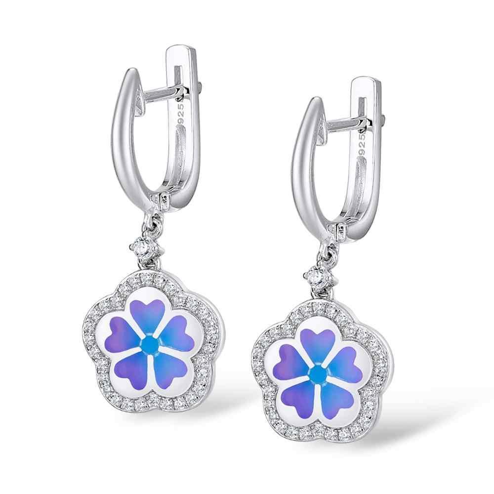 Santuzza Silber Schmuck Set Bunte Emaille Ohrringe Pendent Halskette 925 Sterling Silber Frauen Mode Schmuck Set HANDMADE