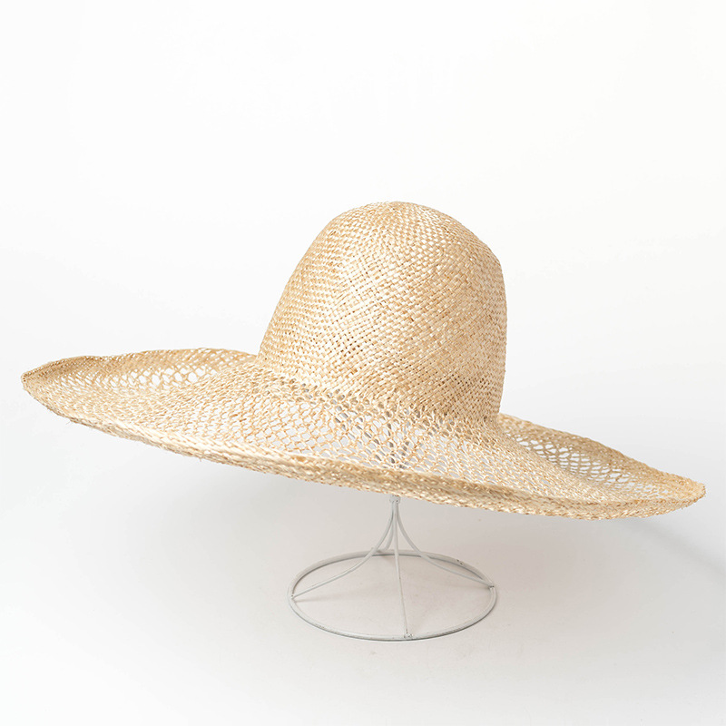 01903-hh7250 summer photographed model Hand-made hollow-out weaving sisal leisure beach lady cap men women holiday fedoras hat