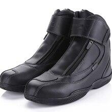 ARCX bottes de randonnée pour moto, équipement de sécurité, en cuir véritable, imperméables, chaussures de randonnée, Chopper de rue