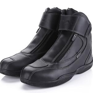 Image 1 - ARCX 防水リアル革クライミングハイキングシューズブーツオートバイ安全ギアレーシングブーツストリートツーリング乗馬靴