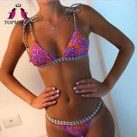 Topmelon Bikini 2017 Swimsuit Women Micro Bikini Push Up Sexy Brazilian Bikini Beachwear Bathing Suit Sexy