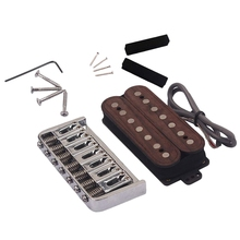 Guitar Humbucker Pickup Bridge Kits 7 String Rose Wood For Electric Guitar And Pedal Steel Guitar yibuy ssh maple wood wired alnico v humbucker pickup pickguard for electric guitar
