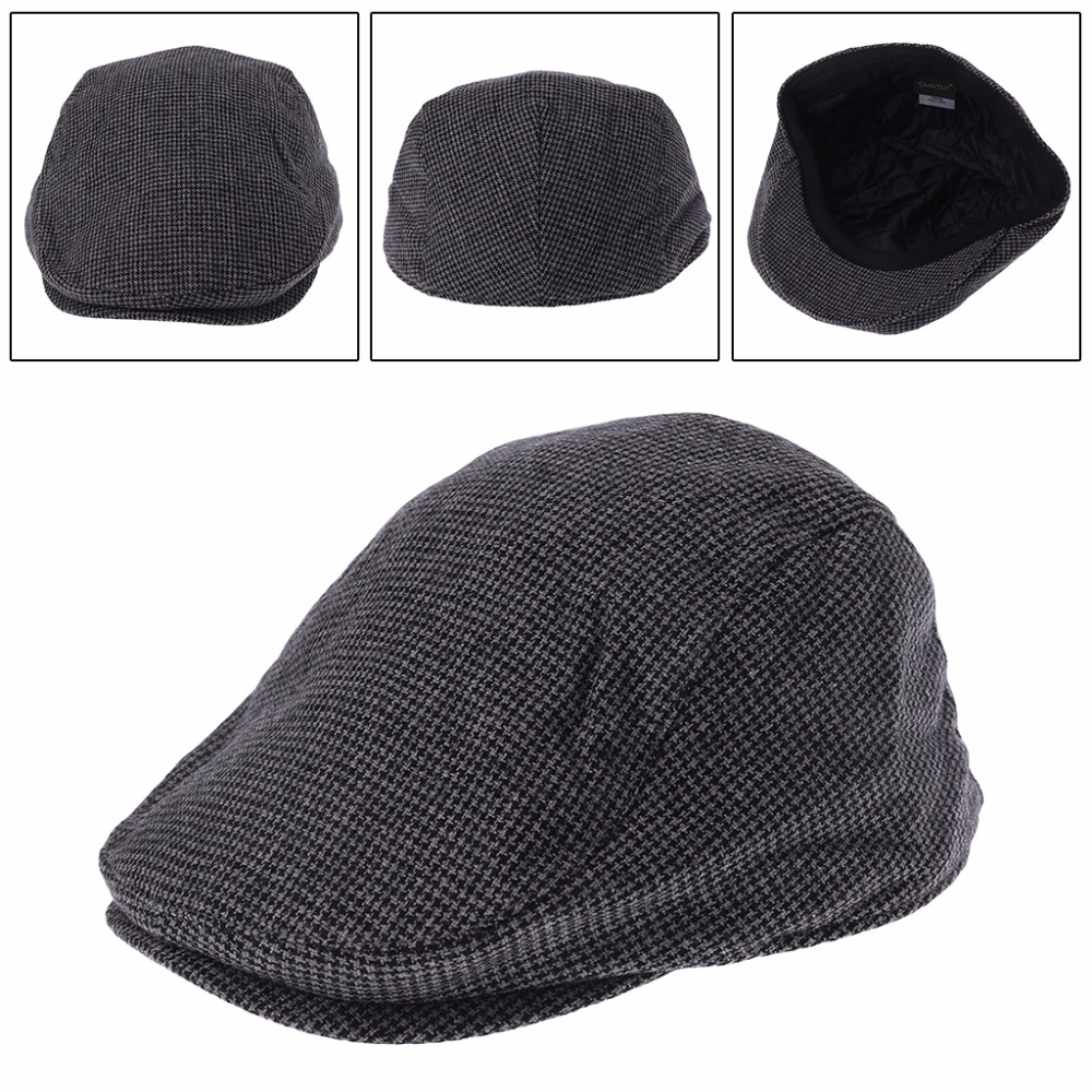 36b96db25d8 Detail Feedback Questions about Fashion Winter Newsboy Cap For Men And Women  Leisure Retro Beret Hat Wool Blend Flat Cap 2018 Solid Color Cap Hat on ...