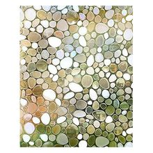 Privacy Window Film Decorative Static Cling Glass 3D Pebble for Home Office