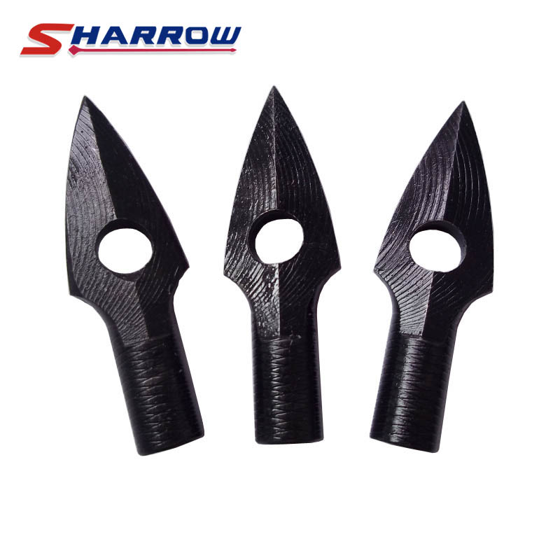 Sharrow 3 Pcs Archery Broadheads Arrow Tip Hunting Arrow Tips Arrow Pointed for Compound Bow Crossbow
