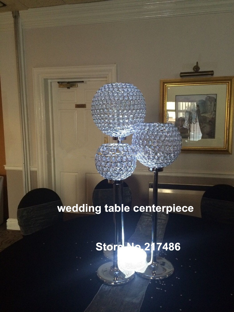 Tall Crystal Globe Candles Holder For Wedding Table Top Centerpiece Golden Candelabra In Glow Party Supplies From Home Garden On Aliexpress