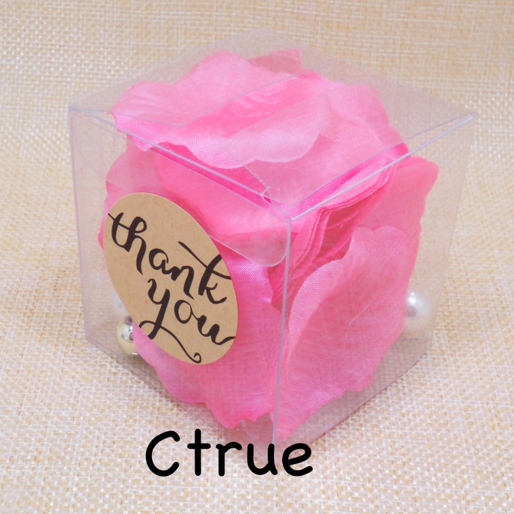 Free Ship 24PC PVC Candy Favor Box with thank you sticker Baby ...