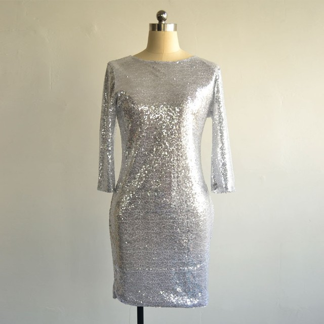Crossover Sequinned Party Dress 4