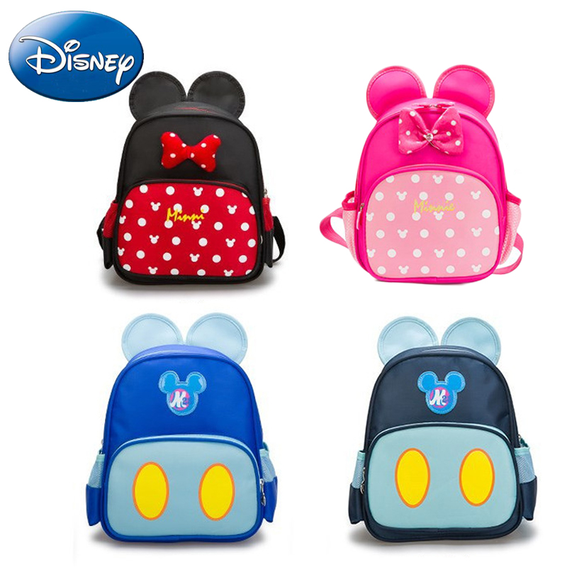 29c03c8e6f 2018 New Disney Girl Kid School Backpack Cartoon Mickey Boy Child Canvas  Backpacks Kindergarten Minnie Baby Student Book Bag
