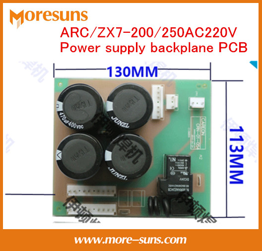 Fast Free Ship ARC/ZX7-200/250AC220V Power Supply Backplane,capacitor Board/universal Inverter Welding Circuit Board