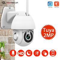 Tuya WiFi Wireless Home Security HD 1080P Ip camera smart Two way audio night vision PTZ motion detection