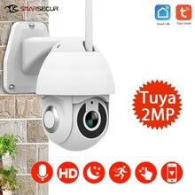 Tuya caméra de surveillance PTZ Ip WiFi HD 1080P, dispositif de sécurité domestique intelligent, avec vision nocturne, audio bidirectionnel et détection de mouvement