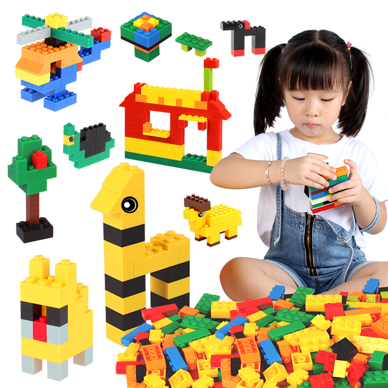 Color Random 200PCS Small Bricks With Small Storage Bucket DIY Building Blocks Toy Gift For Children Compatible with Legoed new big size 40 40cm blocks diy baseplate 50 50 dots diy small bricks building blocks base plate green grey blue