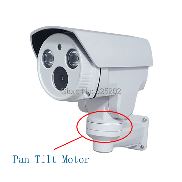 ФОТО Pan Tilt Motor IP 960P Waterproof CCTV Camera  With 2 Pcs Array LED For Long IR Distance