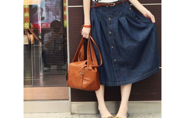 d25152cac2 Korean Charm Lady Casual Denim Skirts Plus Size XXXL girl Loose midi skirt  New Long Design