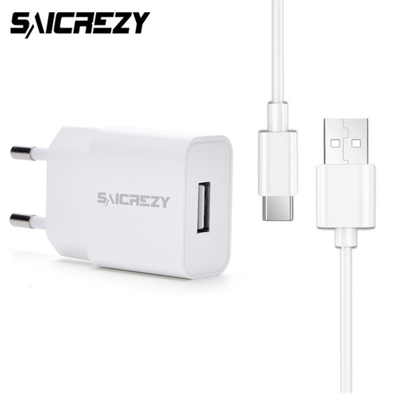 5V 2A Type C USB Wall Charger Travel Charger Adapter + USB Type-C Cable For Huawei Honor 8 9 V9 V10 Magic Note 8 Nova 2 2s Plus