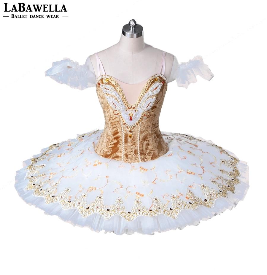 Профессиональная балетная пачка Сценический костюм для Для женщин BT8971A взрослые профессиональные балетные пачки бело золотые плоская балетная пачка юбка балерины