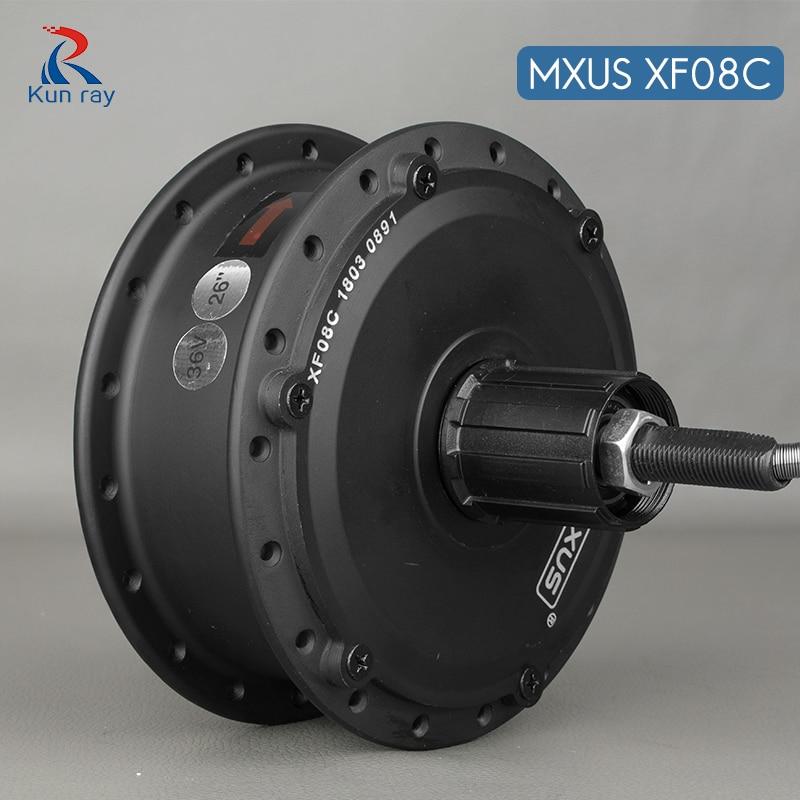 Motor da Roda Motor sem Escova de Alta Velocidade da Engrenagem da Bicicleta Elétrica do Motor w do Cubo da Bicicleta Trotinette 16-28 Traseira Mxus Xf08c 250 24 v 36 48