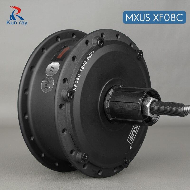 E moteur de moyeu de vélo mxus XF08C 250 W vélo électrique haute vitesse moteur à engrenages sans balais DC 24 V 36 V 48 V Scooter 16-28