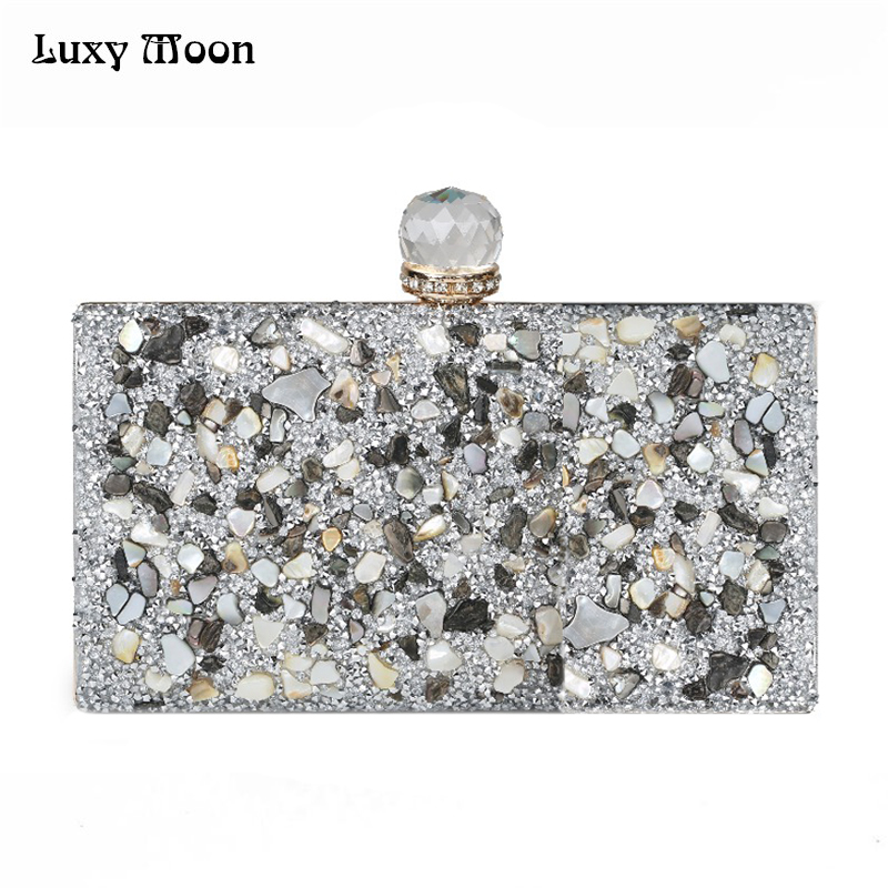 2017 Women Diamonds Evening Bags Beaded Day Clutch Gold Silver Black Evening Clutches Handbags Handmade Bags Purse Wallet ZD475 стоимость