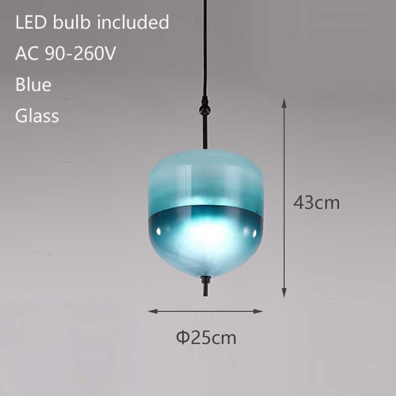 Скандинавский современный каплевидный синий стеклянный подвесной светильник светодиодный светильник в стиле АР-деко простой белый подвесной светильник для гостиной ресторана кухни