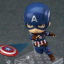 Anime Nendoroid 618 Kawaii Bonito Capitão América Marvel 10 cm Action Figure Toys