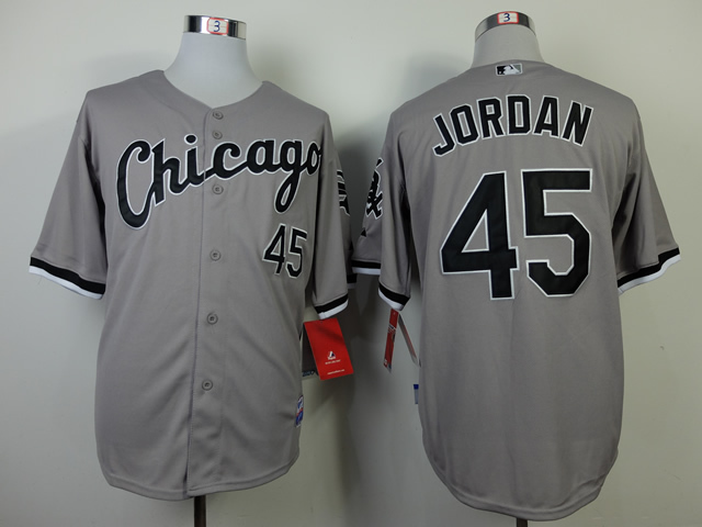 ... get nwt cheap chicago white sox michael jordan 45 jersey black grey  white throwback baseball jerseys 3f274cf1a