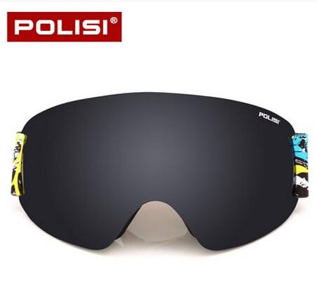 Prix pour POLISI Professionnel Ski Lunettes UV Protection Double Couche Anti-Buée Hiver Snowboard Lunettes Lunettes, bleu Lentille