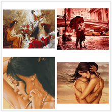 Embrace the love painting digita oil home decoration hand-painted Painting for Numbers