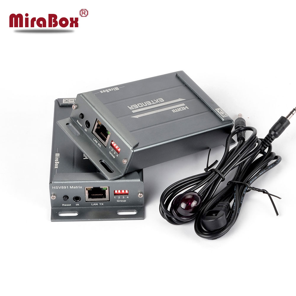 MiraBox HDMI matrice Extender 1080 P sur IGMP commutateur prise en charge 16 expéditeur 236 récepteurs avec contrôle IR sur IP Ethernet Extender