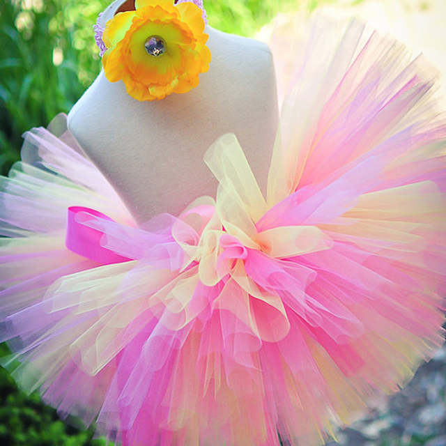 77cc1be6f5df Online Shop Handmade Fluffy Kids Girls Tutu Skirt Rainbow Tutu ...