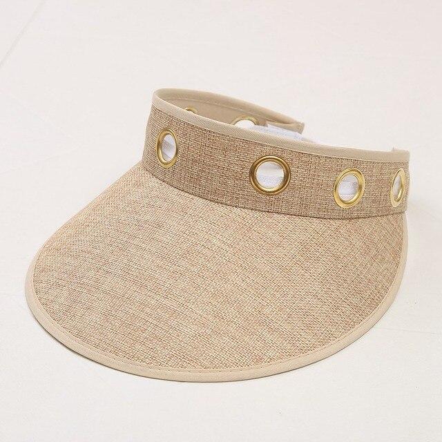 2018 New Summer Long Visors UPV50 Sun Protection Outdoor Sport Hats For  Women Men Empty Top Caps Visor Hat 235f02dab566