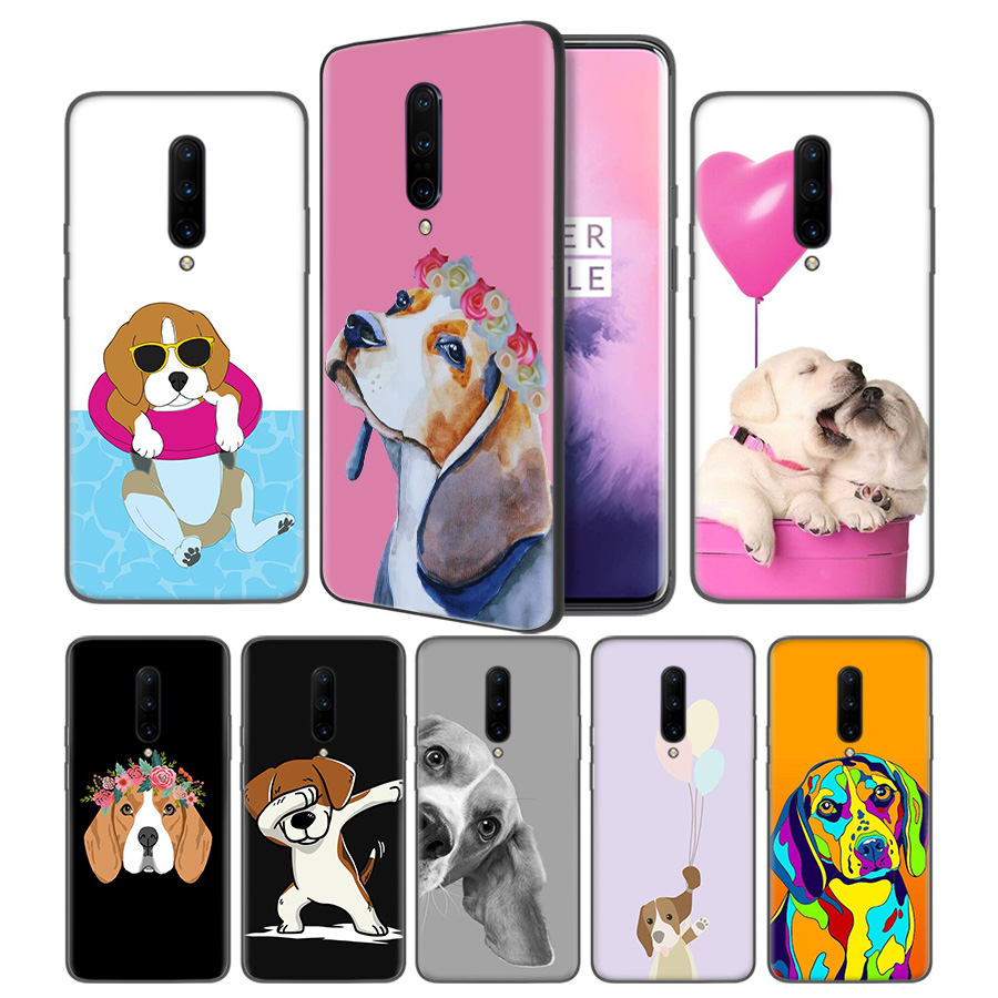 Beagle Dog Soft Black Silicone Case Cover for font b OnePlus b font 6 6T font