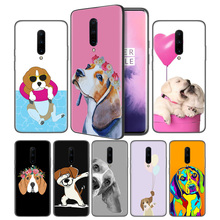 Beagle Dog Soft Black Silicone Case Cover for OnePlus 6 6T 7 Pro 5G Ultra-thin TPU Phone Back Protective