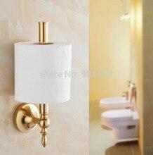 Золотой Пластине Ванная Комната Туалетной Бумаги Бар Soild Латунь Рулона Ткани Кронштейн
