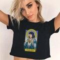 Винтажная футболка из целлюлозной фантастики, женские Графические футболки в стиле Харадзюку, кавайные женские футболки с изображением Кв...