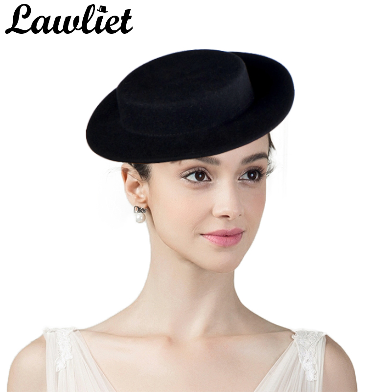 Women Fascinators Mini Top Wool Fedoras Hats Boater Wedding Party Cocktail  Festival Hat Tilt Wool Felt Millinery Hat Base 48b29ab7fe3