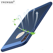 YWEWBJH For iPhone X XsMax Xr 8 7 6 S 6S Plus case Ultra Slim Grid Heat Dissipate Phone Case Luxury Matte Hard PC Cover