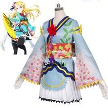 Amor Ao Vivo Angelical Anjo Eli Ayase Escola Idol Projeto Quimono Uniforme Vestido Outfit Trajes Anime Cosplay