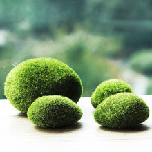 New Simulation Moss Irregular Green Stones Grass Aquarium Garden Plant DIY Micro Landscape Decorations(China)