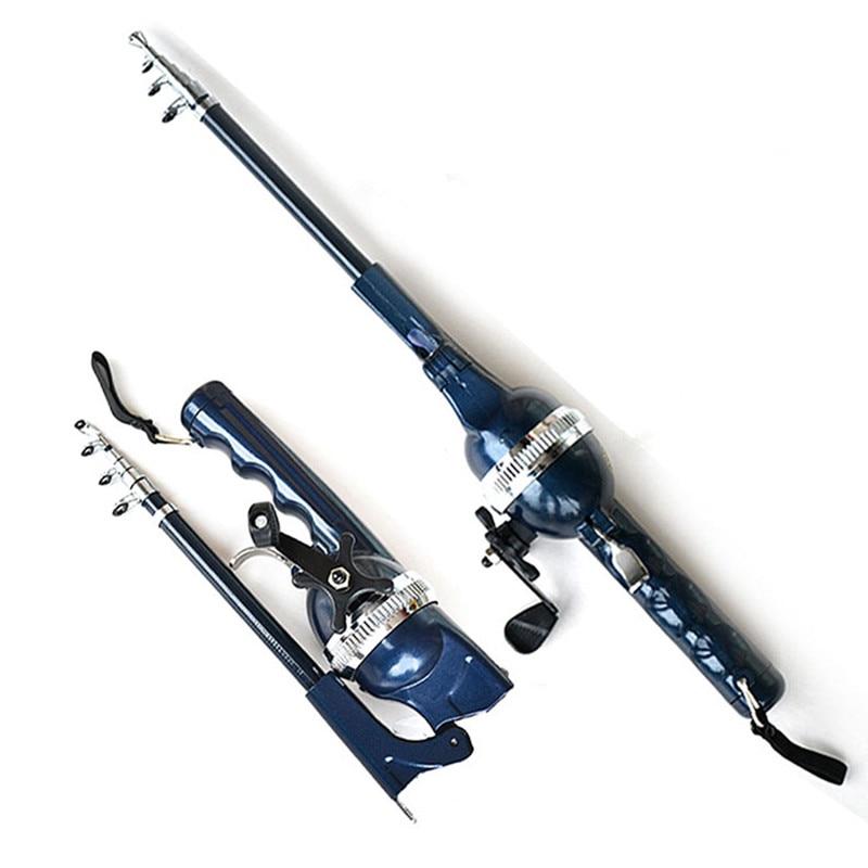 Caña de pescar con caña de pescar Caña de mar ultra rígida caña de pescar plegable portátil caña de pescar de carbono aparejos de pesca