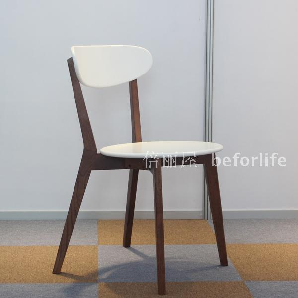 oak and white dining chairs office chair quikr ahmedabad japanese style walnut wood furniture fashion simple y 014