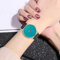 Повседневные Модные женские наручные часы с узором из перьев, Простой циферблат, кварцевые