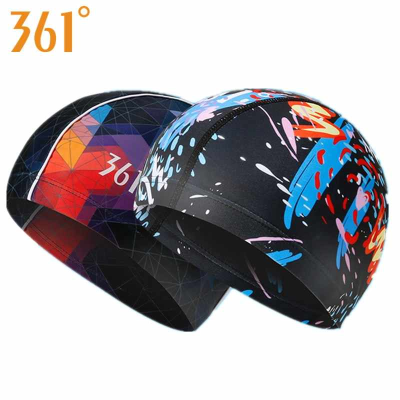 361 Water Sports Men Swimming Cap for Pool Swim Caps Long Hair Women Swimming Hat for Men Quality Fashion Print Brand