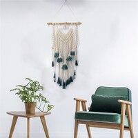 Bohemian Fringed Macrame Tapestry Hippie Tassel Craft Handmade Hanging Tapestry Wall Mural Art Nordic Scandinavian Home Decor
