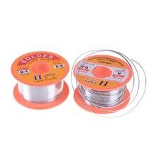 1 рулон 2 размеры 0,5/0,6 мм Flux 2.0% Олово Свинец Олово провода расплава Розин припой проволока ролл Высокое качество 50 г
