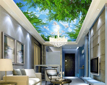 beibehang Ultra-high-definition fashion high-grade decorative wallpaper forest sky zenith painting background 3d wallpaper beibehang large custom high definition high imitation marble water knife parquet 3d floor tiles decorative painting