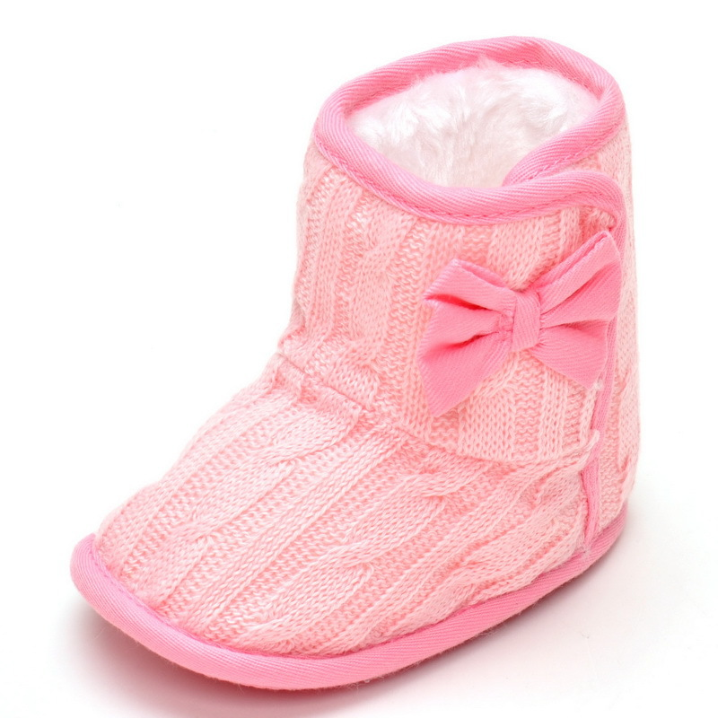 Baby shoes footwear Girls boys Kids warm boots fleece shoes Anti-Slip Crib Shoes Soft Sole Prewalkers Footwear 4 color 1-2years