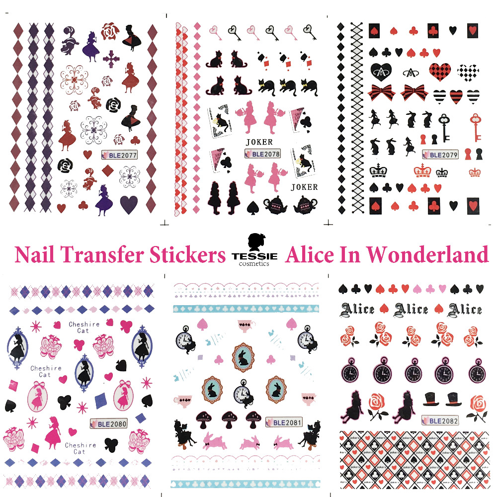 11 ark Alice In Wonderland Nail Stickers Nail Decals Nail Transfer Stickers NailArtTattoo Manicure